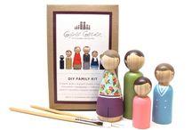 figurky a drevenene kostky