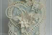 Die Cut Card Making / I really love vintage paper lace die cut cards so the modern day equivalents really stand out to me and recreate that lovely vintage feel.  The dies are so delicate and can be built up to make a stunning 3D card.