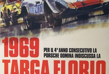 Targa Florio's posters / the Targa Florio was an open road endurance automobile race held in the mountains of Sicily near Palermo.Founded in 1906,it was the oldest sports car racing event,part of the World Sportscar Championship between 1955 and 1973.