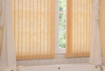 """Vertical Blinds / Contemporary verticals  Our Vertical Solutions® Vertical Blinds are an economical assortment of verticals offered in 3 ½"""" or S-shaped vanes in dozens of modern styles, patterns and colors. Available in fabric and vinyl."""