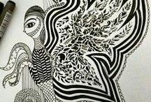 zentangle & mandala & patterns & ideas / zentangle & mandala & patterns & ideas