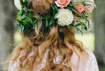 Wreath with flowers in hair natural and fabric (venceky do vlasov s prírodných a latkovych kvetov)