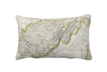 Vintage Map Pillows / This board displays historical cartography and maps printed on various sized throw pillows. They are perfect for any of your interior decorating needs. / by AlleyCatshirts Zazzle