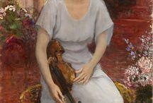 Malerier med kvinnelige musikere