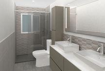 Casanova | Proyecto de reforma de baño / Renders 3D del proyecto de reforma de baño que en Grupo Inventia  realizamos en la calle Casanova de Barcelona.