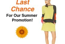 Hurry End of Summer Promotion! / Best Deal of the Summer at evavarro.com Buy Any Eva Varro Item And We Will Surprise You With A FREE Similar Garment! Discount Code: SendMyGift No matter what, you can keep your gift item(s)! No refunds on your purchased item(s). Exchanges and on-line credit only. Not to be combined with other sales or gift certificates. On-line only.