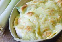 Gratin de poireaux au fromage de raclette