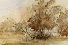krajina v akvarelu