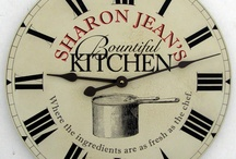 Kitchen Clocks / Every kitchen needs a clock!  Make yours special. These custom clocks by John Borin are one-of-a- kind.  Each clock is custom screen printed onto a steel dial with designs specially created for each customer.