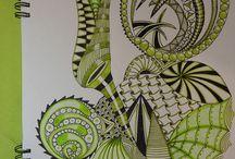 Coloured zentangle