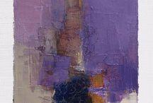 Abstracte olieverfschilderij