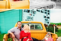 AT THE DRIVE-IN / Drive-in inspired engagement session.  / by Jessica Lee Photography