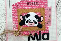 panda greeting cards / panda themed