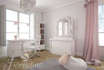 Pokój Matyldy.  Fiorentino Białe meble w aranżacji pokoiku dla dziewczynki /  Fiorentino Białe meble w aranżacji pokoiku dla dziewczynki