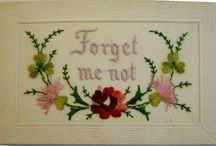 Forget Me Not / World War One Embroidered Postcards Inspired Design