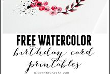 Free watercolor
