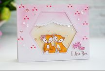 PPP: Scallop Borders 1 Inspiration / A board filled with inspiration using the Pretty Pink Posh die set: Scallop Borders 1