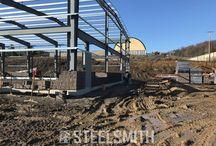 Progress Photos of Steelsmith Steel Buildings
