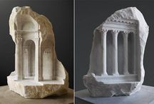 Mathew Simmonds - Miniature Medieval Interiors Carved into Marble / Favored for its translucency and durability, marble has been the material of choice for sculptors beginning with the early Greek masters. The intricately carved creations are the work of British sculptor Matthew Simmonds, an art-historian-turned-stone-carver. Inspired by his academic background and, later, his work in helping to restore important historic monuments (in particular, Westminster Abbey and Ely Cathedral).  http://www.onformsculpture.co.uk/artists/matthew-simmonds / by Thomas Benner