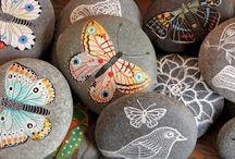 painted rocks, beschilderde stenen