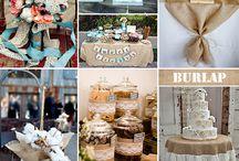 Burlap wedding theme