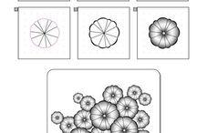 Zetangle patterns