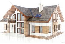 Architectural visualisations, technical style