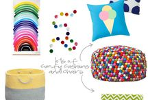 Playroom Inspiration / Ideas and inspiration for decorating a playroom.