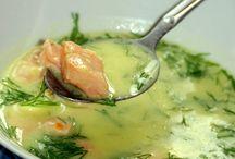 zupa norweska z lososiem