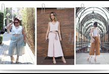 Calça pantacourt com cropped / Looks com calça pantacourt e cropped para arrasar no verão 2018.