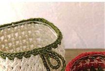 crochet,cestas