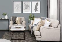 Vardagsrum från Trademax / Våra vardagsrum, soffor, soffbord, fåtöljer, kuddar, tavlor och all inspiration du kan tänka dig från oss på Trademax.
