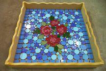 Mozaik tálca