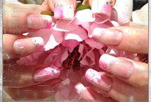 Nails ❤️❤️❤️ / Nails done by me.  Love, nails, nailart, glitter, PINK