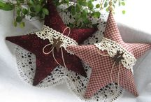 Vánoce-textilní ozdoby