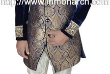 Indo Western / Find stylish Indo Western Menswear this season at Indian Wedding Saree. We provide the latest collection in Indo Western clothing with a wide selection to choose from.