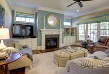 Interior Design - Family Room - Apex NC - Private Residence / Interior Design, furniture, custom window treatments, custom furniture, accessories