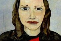 """Lucian Freud / (1922 – 2011) British painter. Known chiefly for his thickly impastoed portrait and figure paintings, he was widely considered the pre-eminent British artist of his time. His works are noted for their psychological penetration and their often discomforting examination of the relationship between artist and model. """"I paint people,"""" Freud said, """"not because of what they are like, not exactly in spite of what they are like, but how they happen to be."""""""