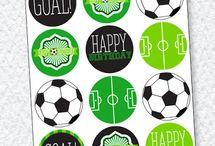 sweet table birthday football