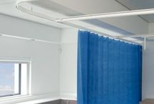 Cubicle Curtain Tracks / Full range of products for hospital and doctors surgeries. Excellent NHS certified Cubicle Curtain tracks and curtains http://www.direct-fabrics.co.uk/curtain-tracks/cubicle