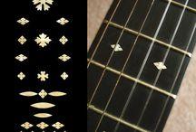 "Snowflake / inlay sticker ""Snowflake"" guitar/ukulele decals"