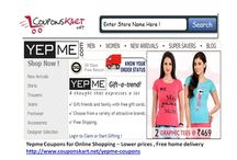 Yepme Discount Coupons  / Yepme discount coupons are available at Couponskart.net . For sales and all discount offers , use coupon code available at http://www.couponskart.net/yepme-coupons Online shopping in India at Yepme.com  for flight , dress coupons , visit http://www.couponskart.net