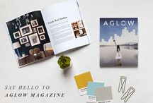 AGLOW Magazine / A a quarterly publication devoted to the creative entrepreneur.  / by Design Aglow