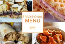 Traditional Freezer Menu October 2015 / Carve out some extra time for the things you love most this fall with our Traditional October Menu. From the spicy stylings of creamy enchilada soup and Mexican pot roast to saucy french dip sandwiches and sausage jambalaya this menu is a fusion of flavor for your freezer. / by Once A Month Meals