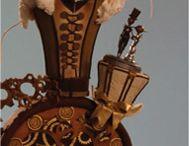 Steam Punk Cake Ideas / Steam punk, cogs, clock, corset, compass, globe, top hat, goggles, wedding cake, cupcake, gears