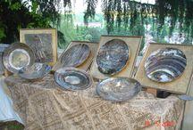 Esposizione a Longare 19.05.2006 / Esposizione di piatti in terracotta lavorati a mano  e decorati con Arte Raku