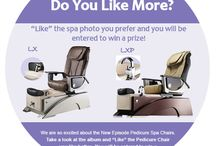 Enter To Win  / Like us on Facebook and like which Pedicure Spa chair you like more the Episode LX or LXP. One lucky person will win a sleek Slimlight. Contest ends Feb. 28, 2014