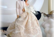 Vintage Bride ~ Cake Toppers
