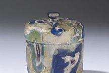 verre romain - pyxides
