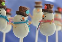 Snowman Cake Pops / The cutest snowman cake pops